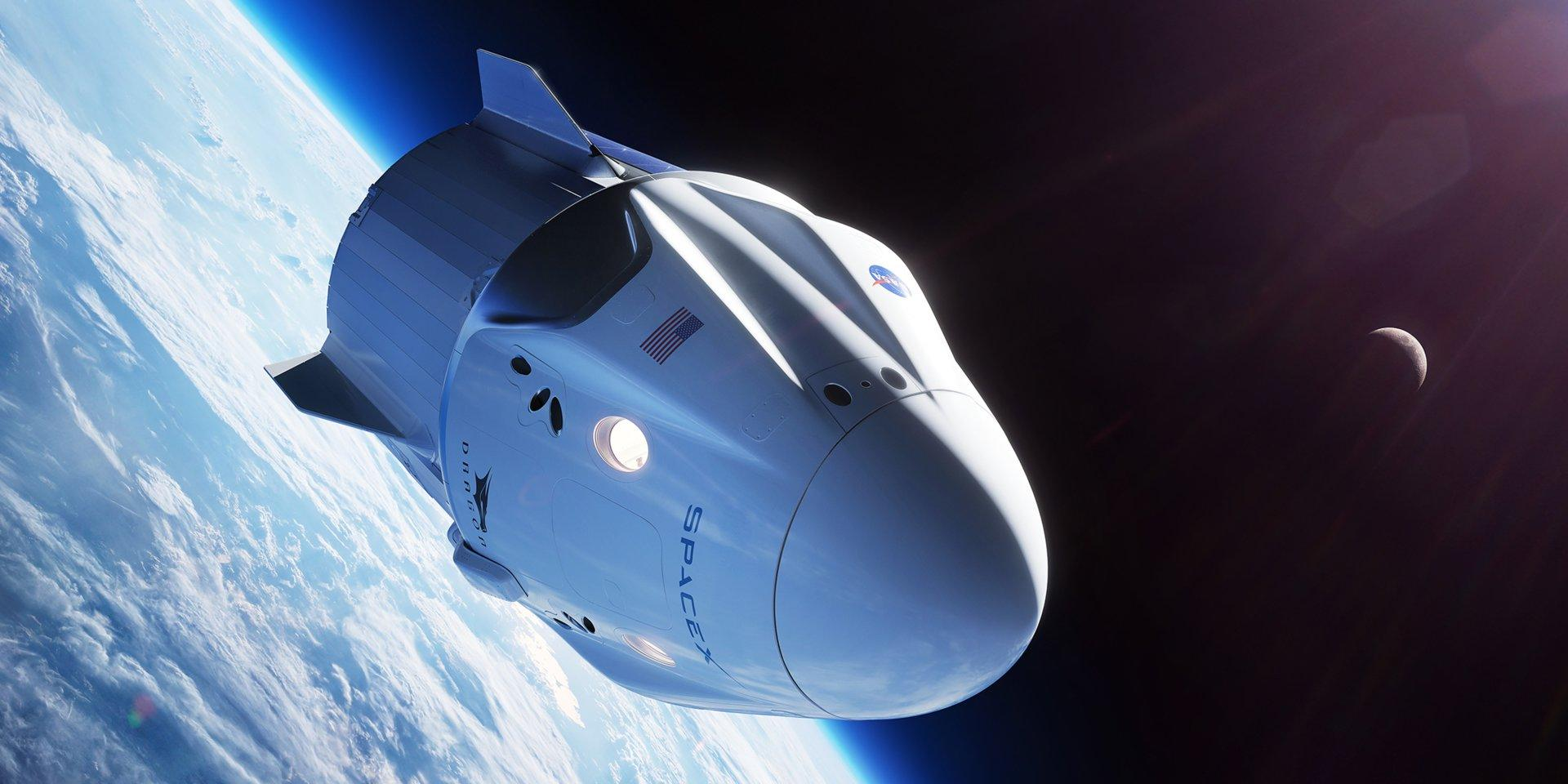 dragon spacecraft video - HD 1920×960
